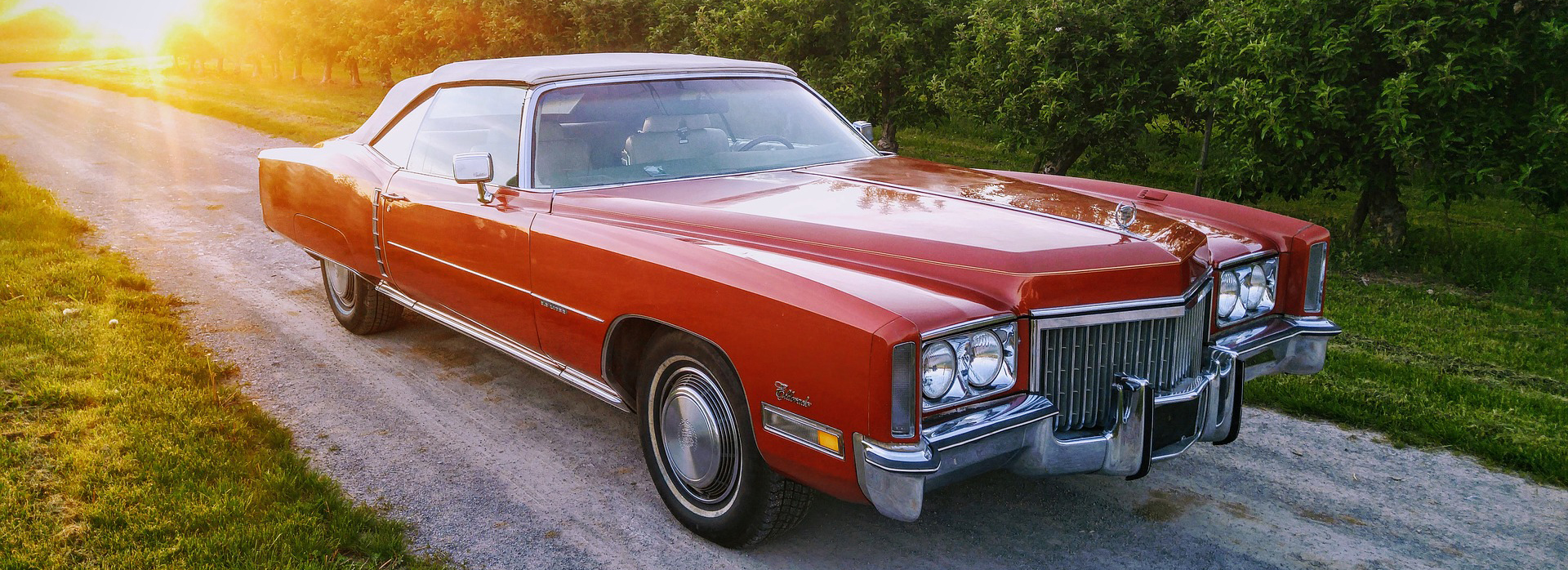 Classic Red Cadillac in Fort Myers Florida | Breast Cancer Car Donations