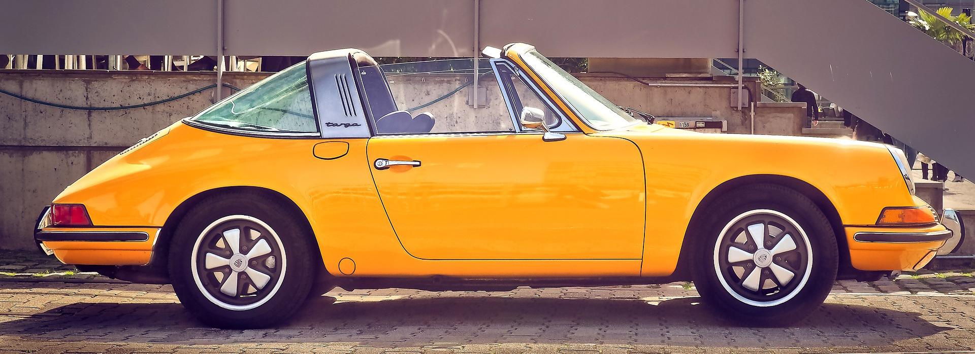 Yellow Oldtimer Car in San Bruno, California | Breast Cancer Car Donations