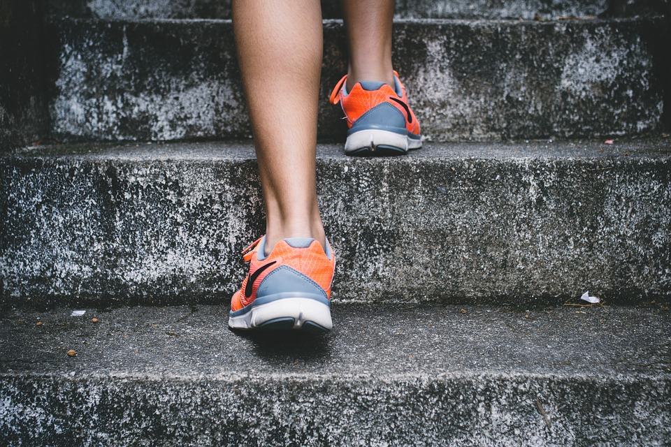 Climbing the Stairs on a National Take the Stairs Day | Breast Cancer Car Donations