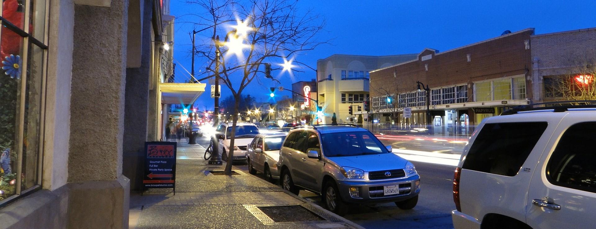 Downtown Petaluma California | Breast Cancer Car Donations