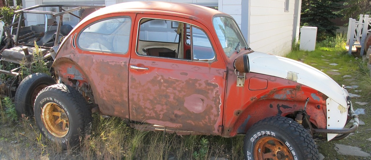 Old Rusted Beetle in North Dakota - CarDonations4Cancer.org