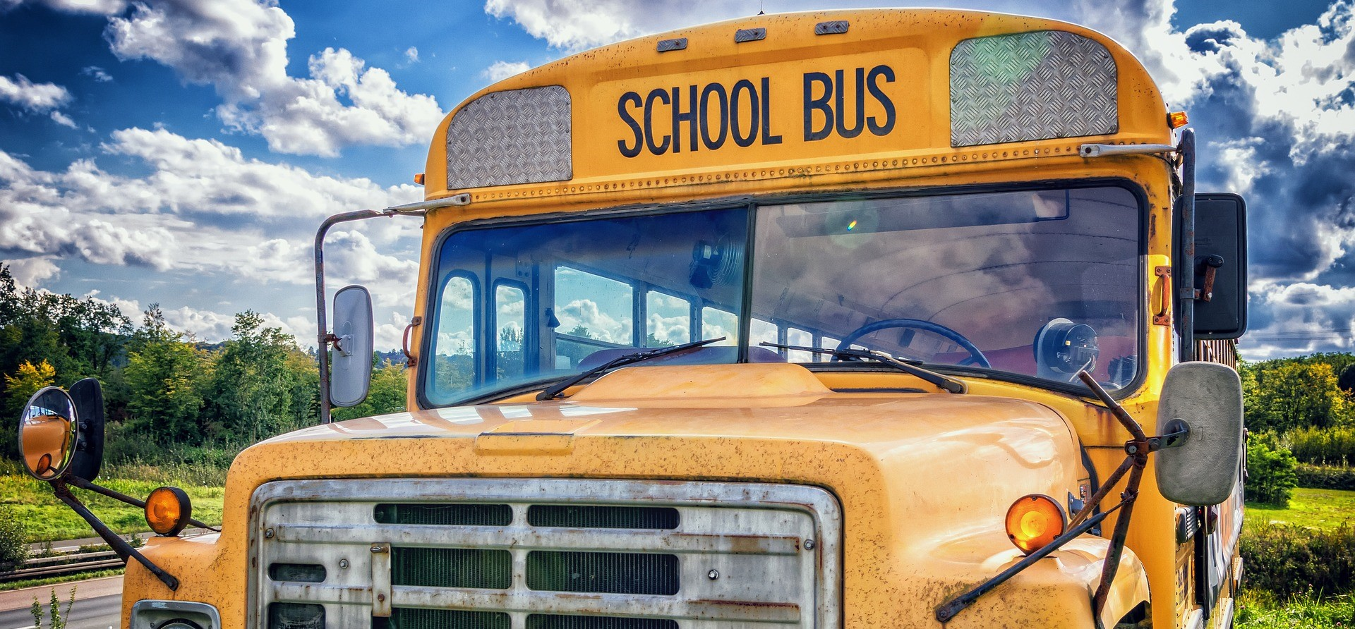 Old School Bus in Palm Beach, Florida | Breast Cancer Car Donations