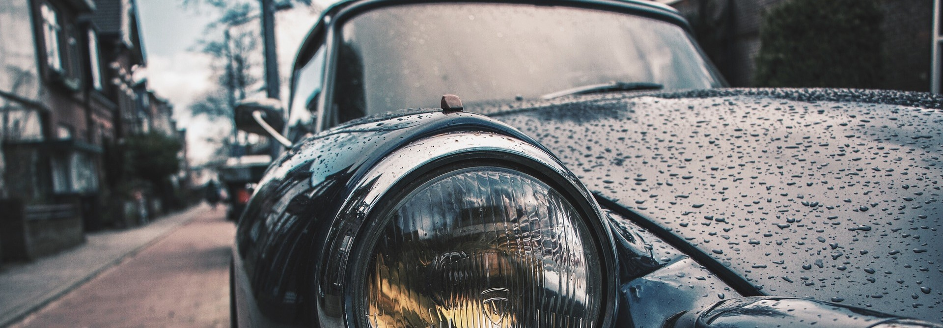 Oldtimer Car at the Road | Breast Cancer Car Donations
