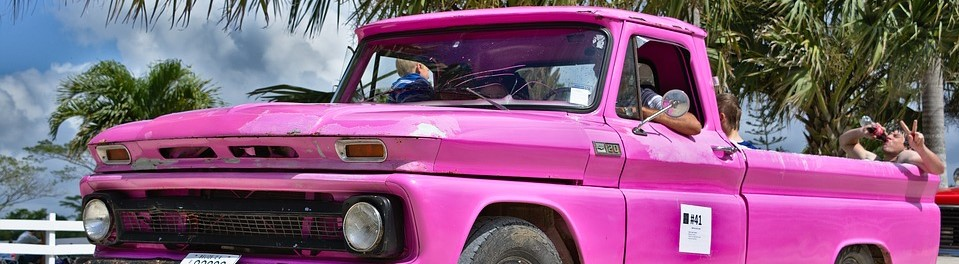 Pink Pick Up Truck in Niagara Falls - CarDonations4Cancer.org