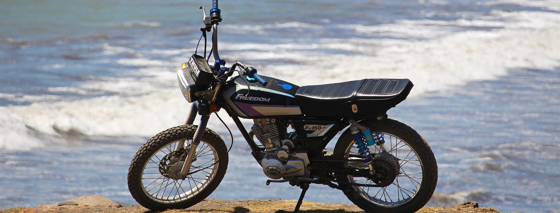 Motorcycle on a Beach in Maryland - CarDonations4Cancer.org