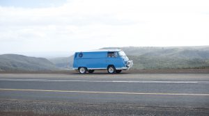 Parked Campervan along the Road | Breast Cancer Car Donations