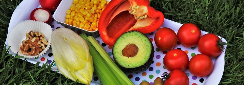 Fruits and Vegetables in a Platter | Breast Cancer Car Donations