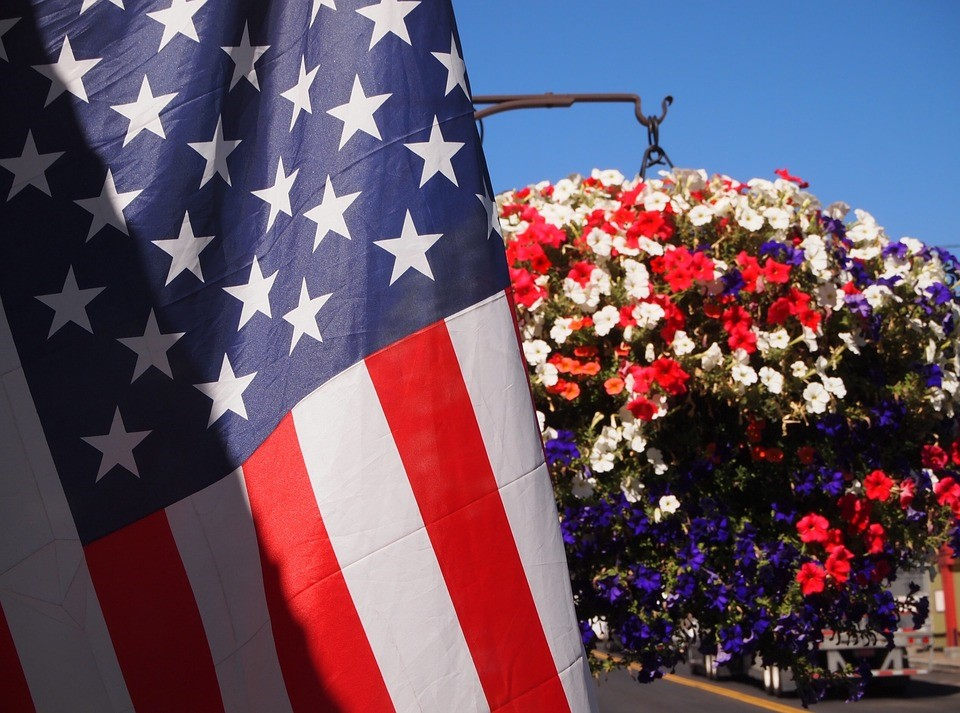 The American Flag on a Labor Day | Breast Cancer Car Donations