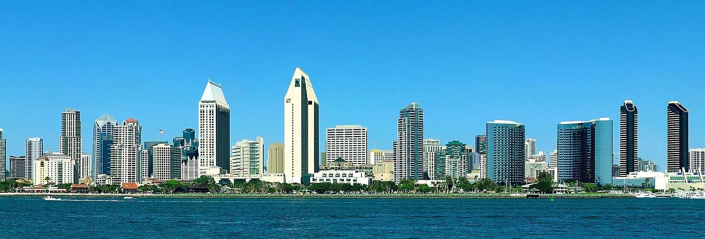 San Diego, California Skyline | Breast Cancer Car Donations