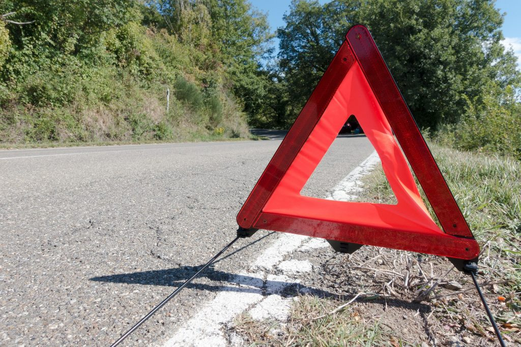 Road Warning Triangle | Breast Cancer Car Donations