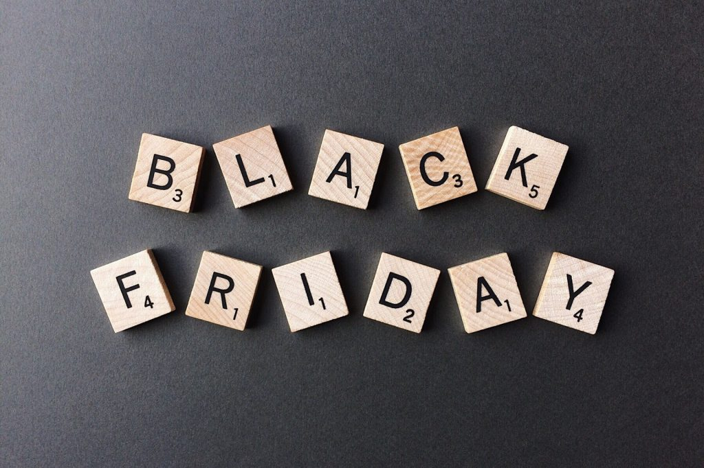 Black Friday in Scrabble Tiles | Breast Cancer Car Donations