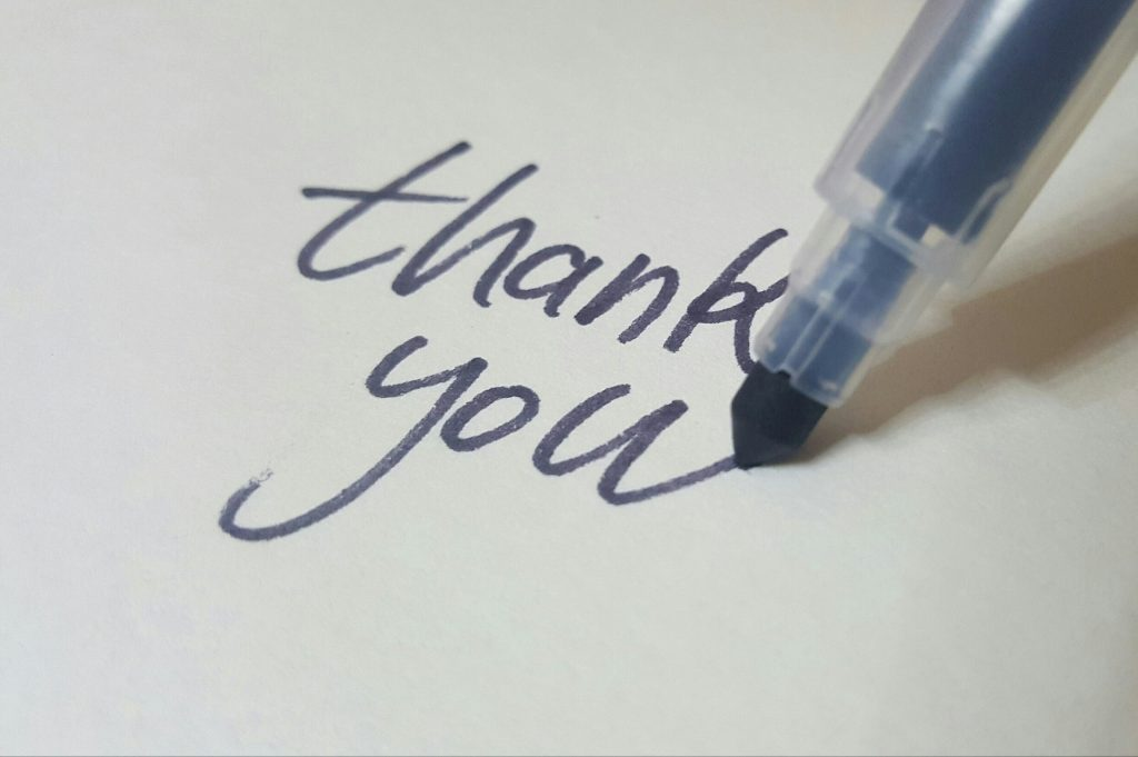Thank You Calligraphy | Breast Cancer Car Donations
