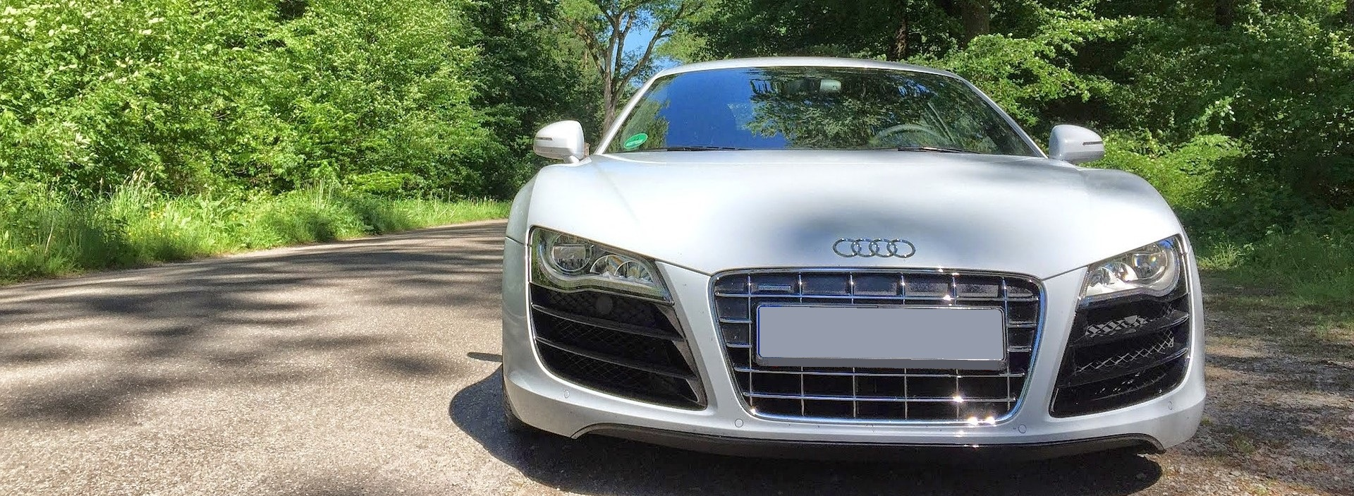 White Audi in Houston, Texas | Breast Cancer Car Donations