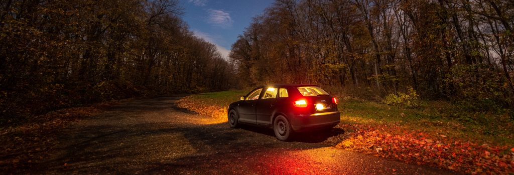 Car at Night Outdoors | Breast Cancer Car Donations