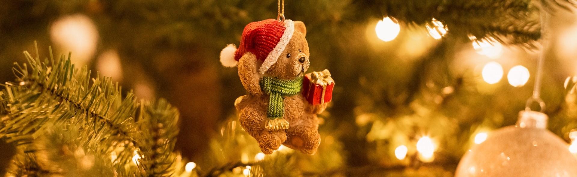 Teddy Bear Decor on a Christmas Day | Breast Cancer Car Donations