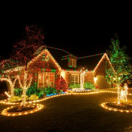 Festive Neighbor Outdoor Holiday Decorations | Breast Cancer Car Donations