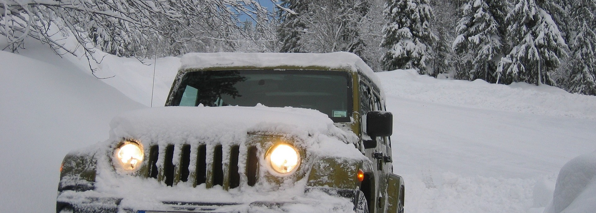 Jeep on an Outdoor Snow | Breast Cancer Car Donations