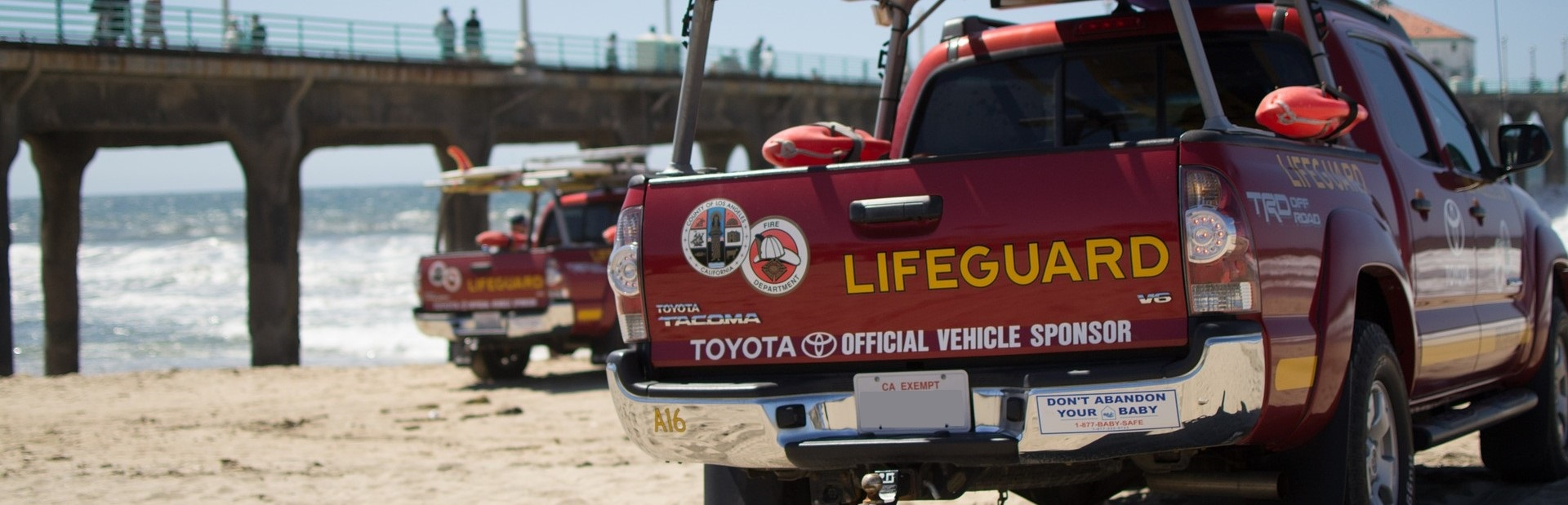 Lifeguard Truck in Manhattan Beach, California | Breast Cancer Car Donations