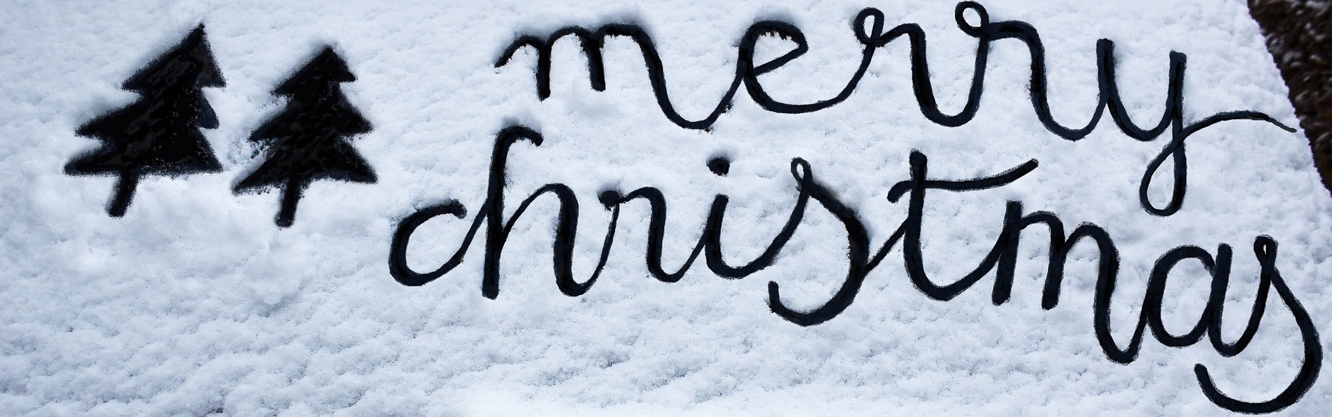 Merry Christmas Writing on a Snow | Breast Cancer Car Donations