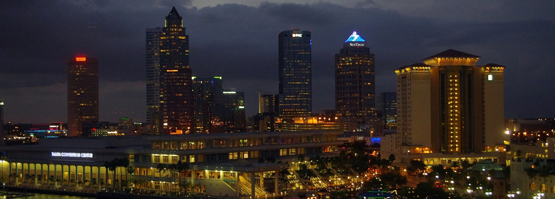Night Skyline in Tampa, Florida | Breast Cancer Car Donations
