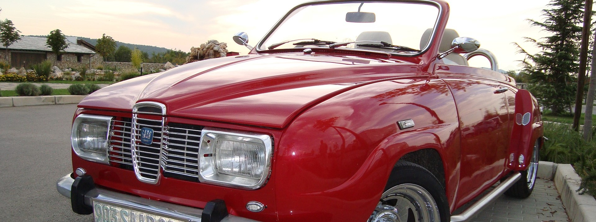 Red Vintage Car in Havre de Grace, Maryland | Breast Cancer Car Donations