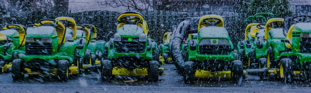 Riding Lawn Mowers at the Snow   Breast Cancer Car Donations