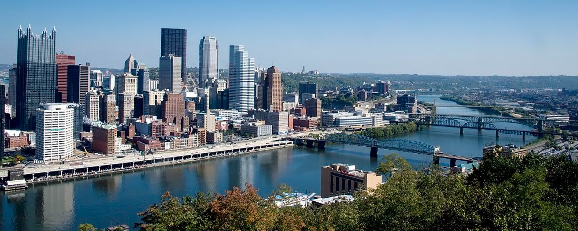 City Skyline in Pittsburgh, Pennsylvania | Breast Cancer Car Donations