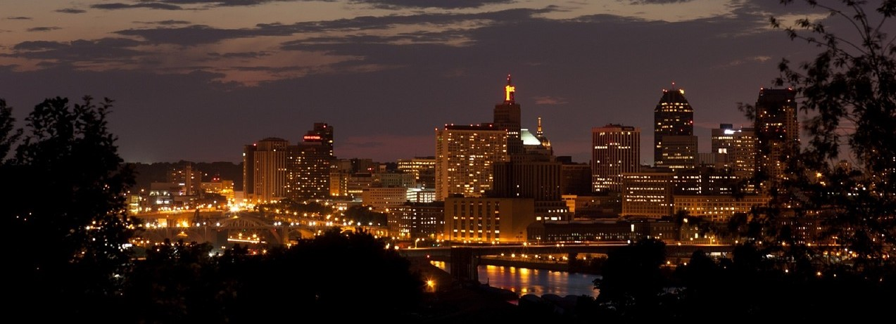 Sunset Skyline in St. Paul, Minnesota | Breast Cancer Car Donations