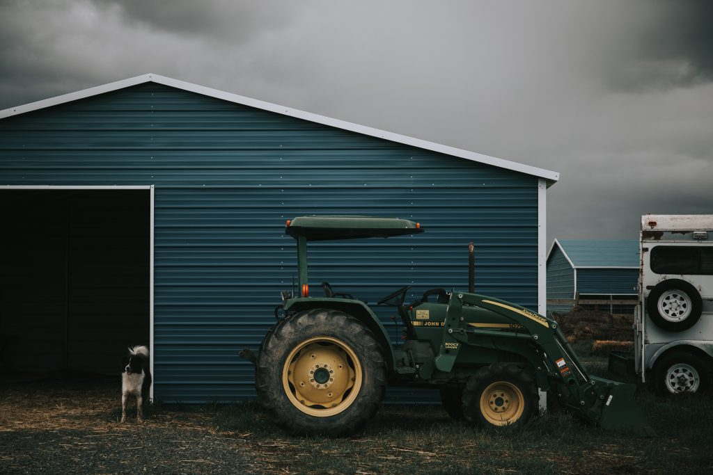 Tractor in a   Breast Cancer Car Donations