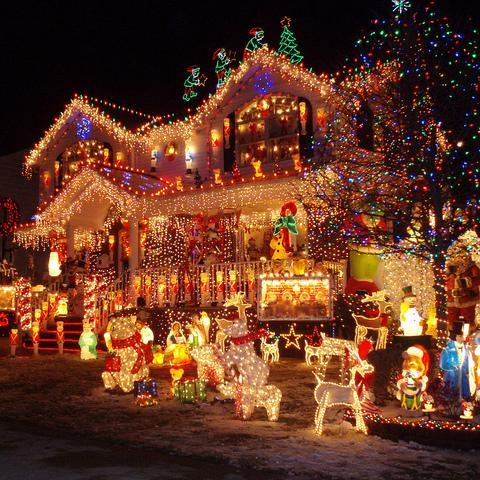 Yuletide Utopia Outdoor Holiday Decorations | Breast Cancer Car Donations