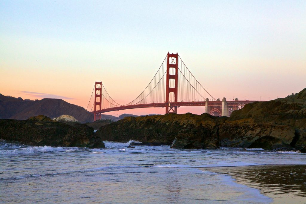 Golden Gate Bridge in Bay Area | Breast Cancer Car Donations