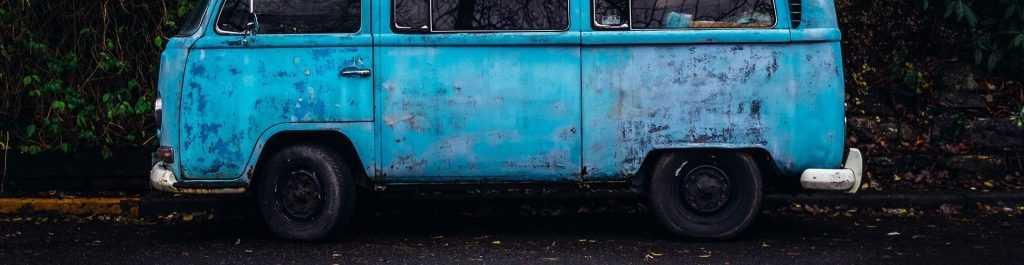 Blue Oldtimer Hippy Van | Breast Cancer Car Donations