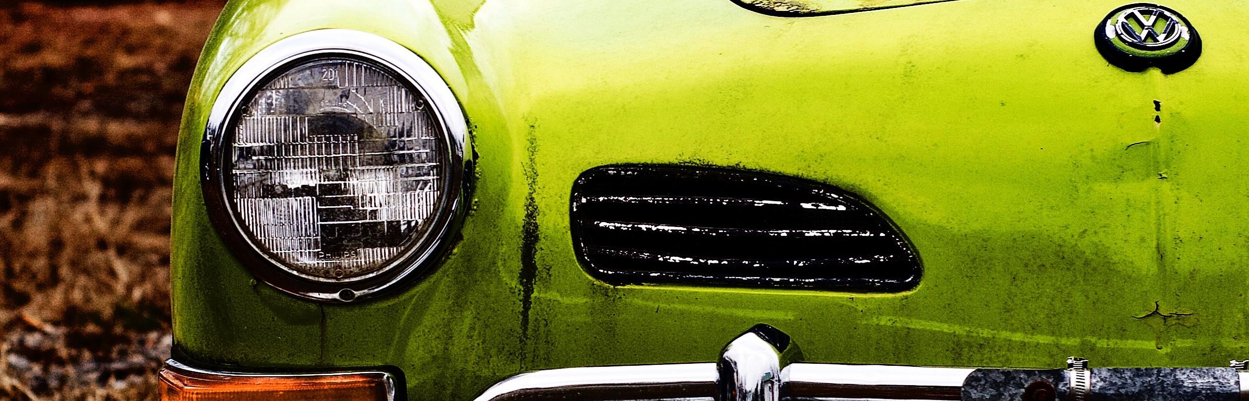 Green Oldtimer Volkswagen | Breast Cancer Car Donations