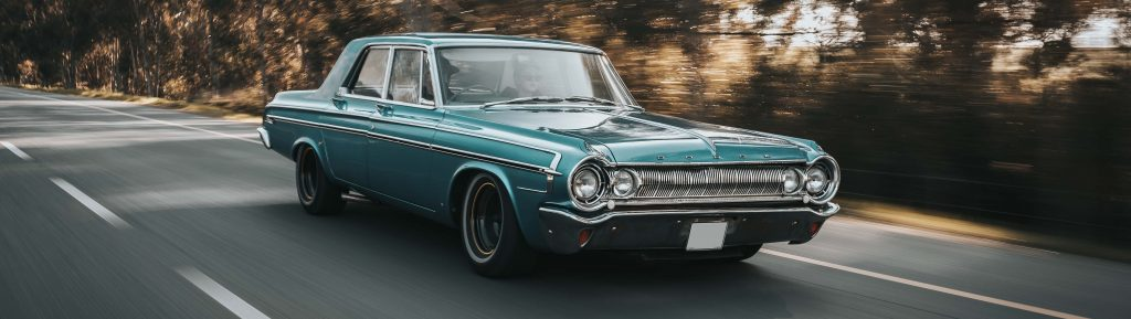 Oldtimer Dodge on the Road | Breast Cancer Car Donations