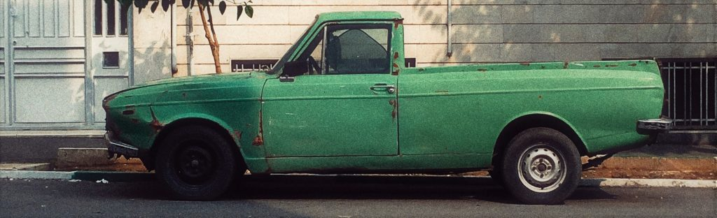 Green Oldtimer Truck | Breast Cancer Car Donations