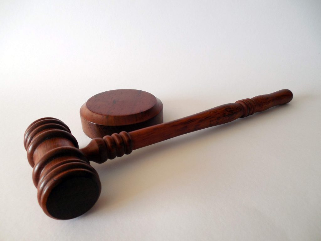 Gavel on a Table | Breast Cancer Car Donations