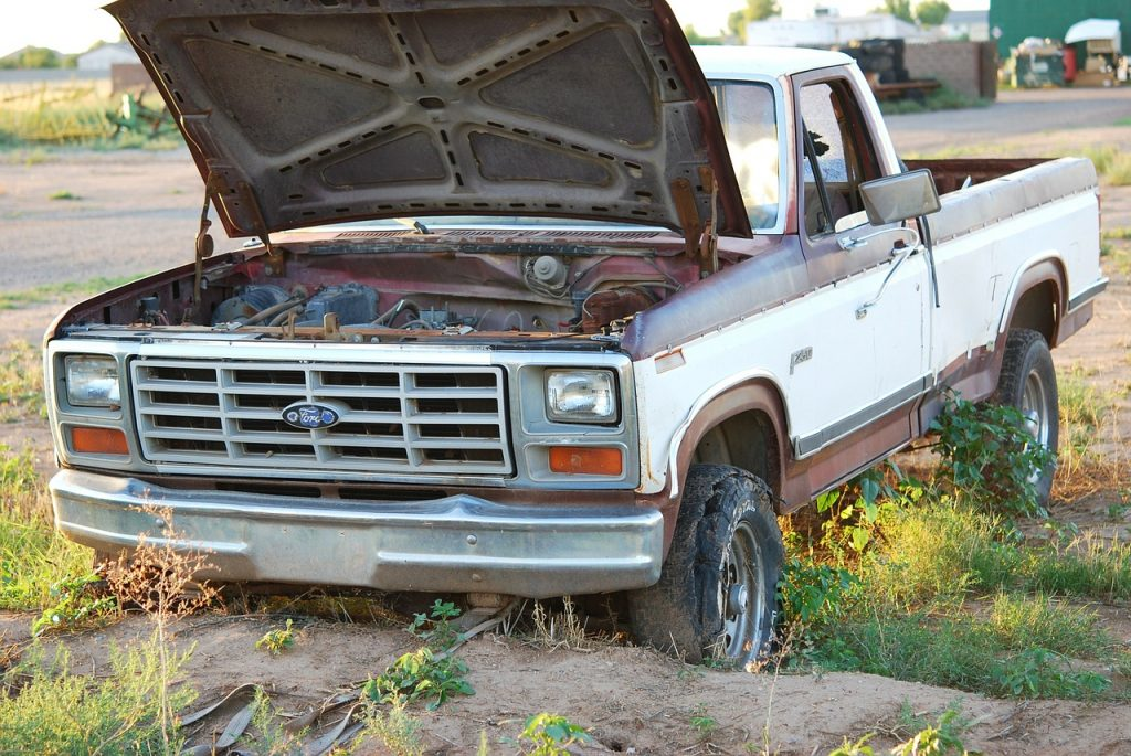 Junk Ford Pick Up Truck | Breast Cancer Car Donations
