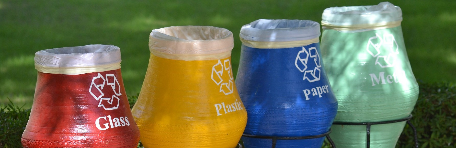 Recycle Bins in Different Colors | Breast Cancer Car Donations