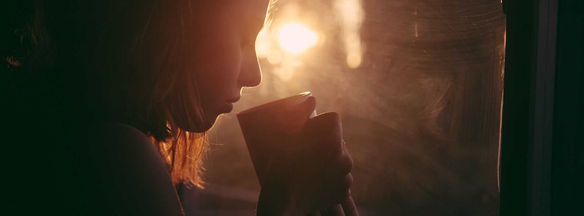 Woman Drinking Coffee | Breast Cancer Car Donations