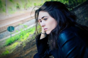 Sad Woman Having Sad Thoughts | Breast Cancer Car Donations