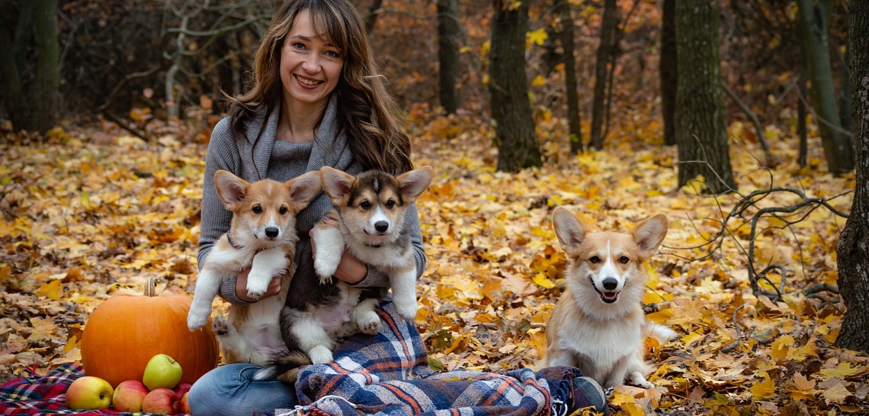 Woman Having Picnic with Dogs Outdoors | Breast Cancer Car Donations