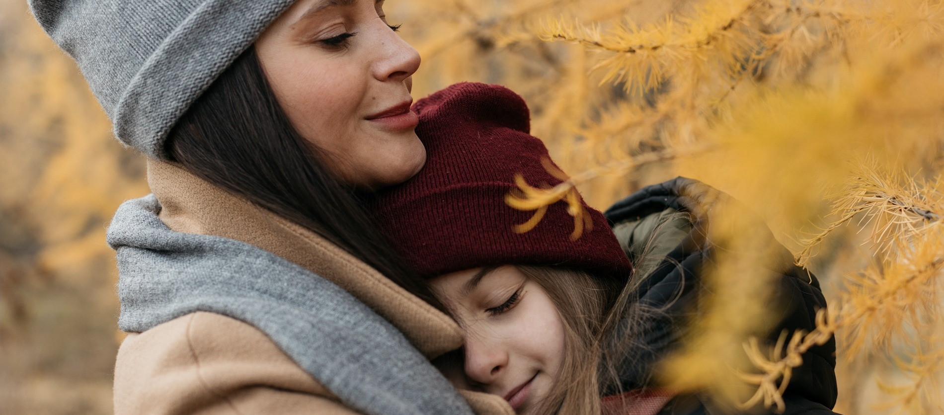 Mother And Daughter in Autumn | Breast Cancer Car Donations