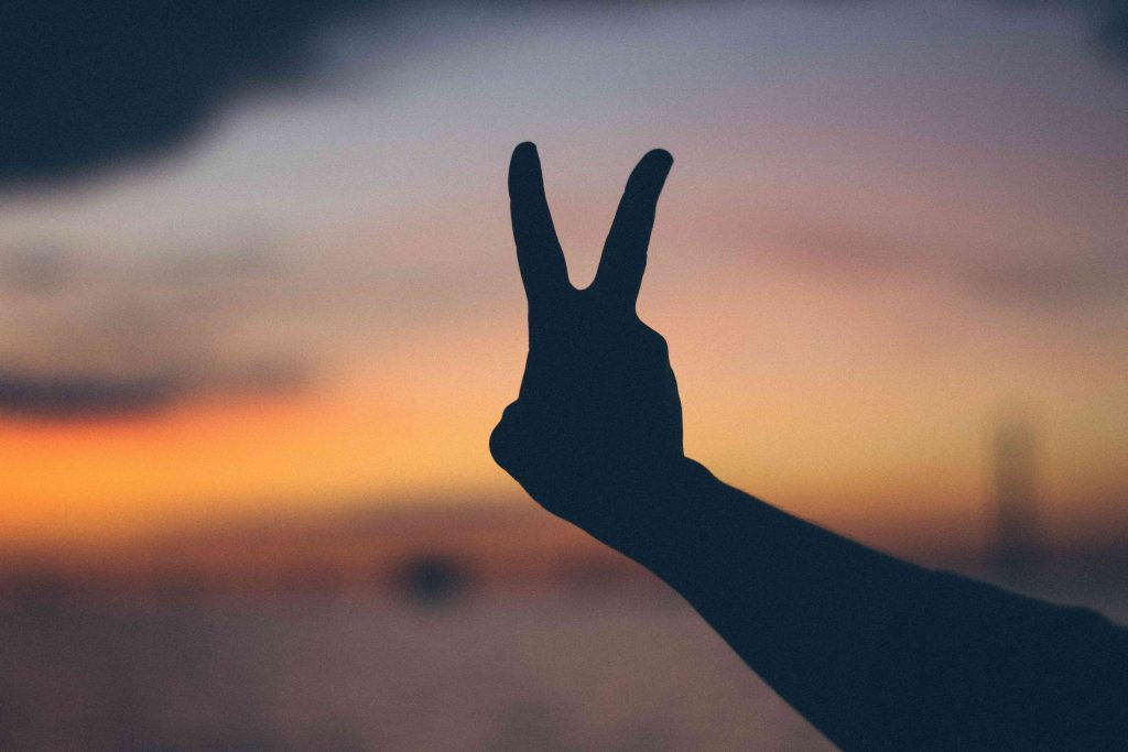 Peace Sign Silhouette | Breast Cancer Car Donations