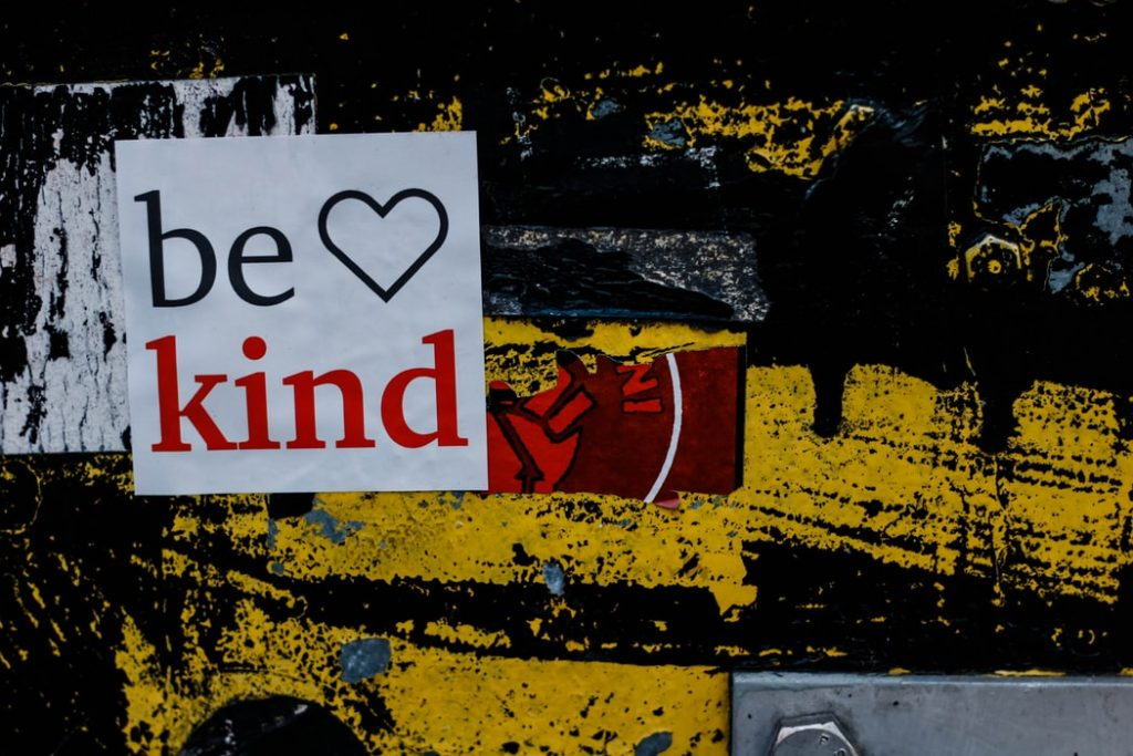 Be Kind Sticker on a Wall | Breast Cancer Car Donations