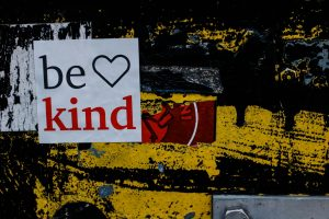 Be Kind Sticker on a Wall   Breast Cancer Car Donations