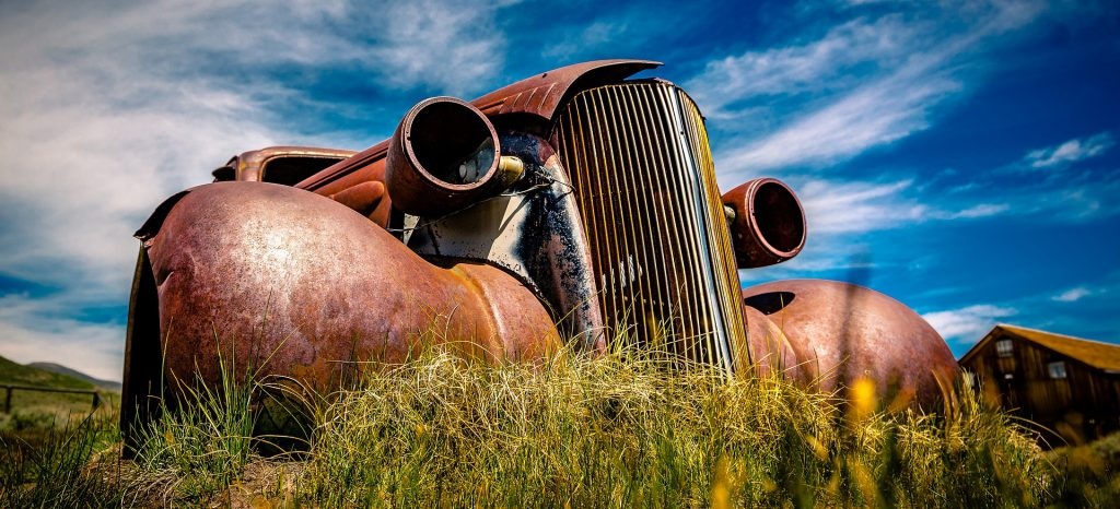 Rusted Oldtimer Car in Texas | Breast Cancer Car Donations