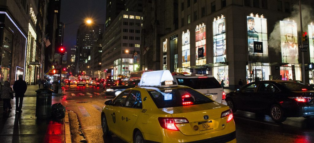Taxi Cab in Downtown New York | Breast Cancer Car Donations