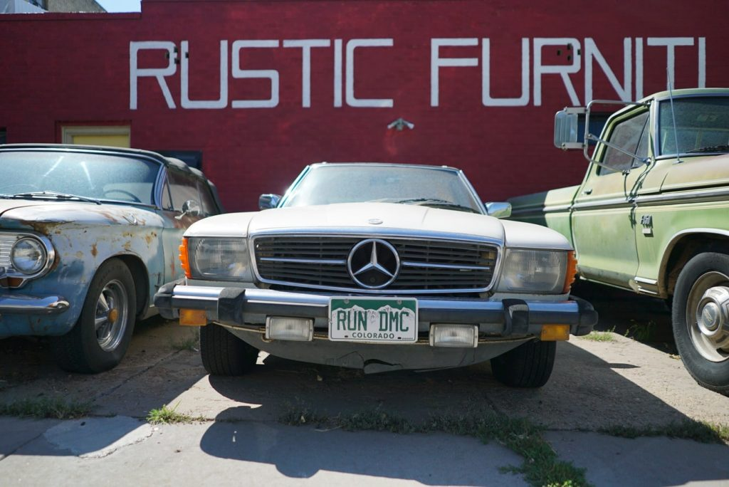 Parked Oldtimer Mercedes | Breast Cancer Car Donations