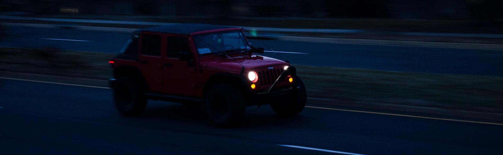 Red Jeep in Santa Clarita, California | Breast Cancer Car Donations