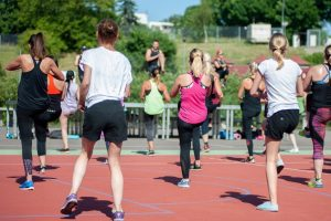 Women Workout Outdoors   Breast Cancer Car Donations